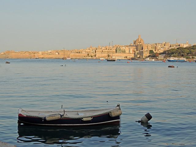 Evening falls over Valletta