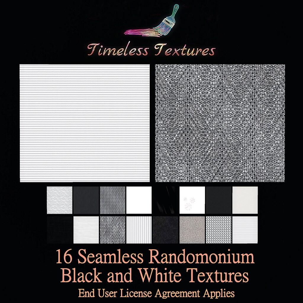 TT 16 Seamless Randomonium Black and White Timeless Textures