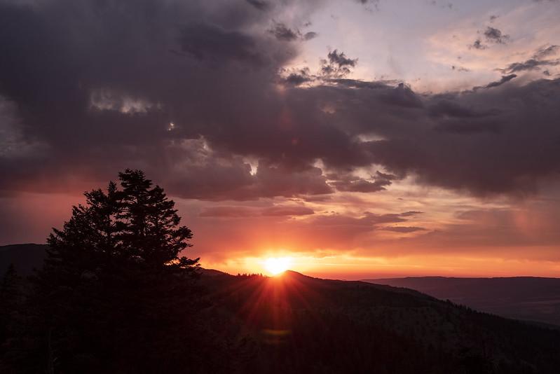 Fall Mountain sunset