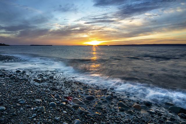 Setting Sun at Topsail Beach
