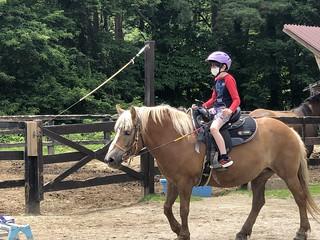 Alan riding a horse