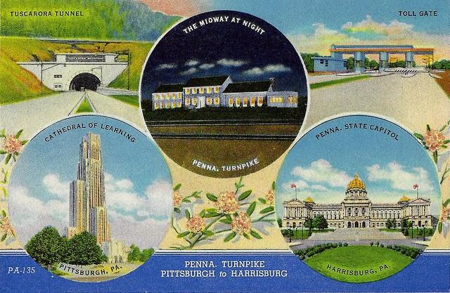 Penna. Turnpike. Pittsburgh to Harrisburg.