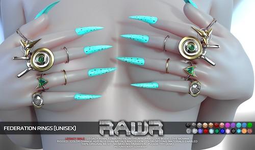 RAWR! Federation Rings PIC