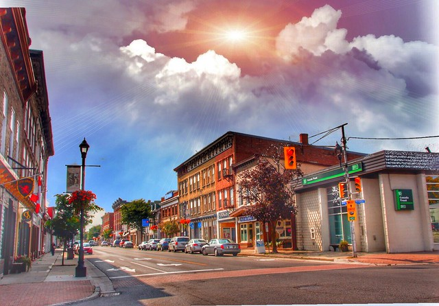 Brockville Ontario - Canada - King St E - Downtown Heritage Buildings