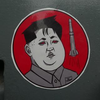 Kim Jong-un sticker, Shoreditch