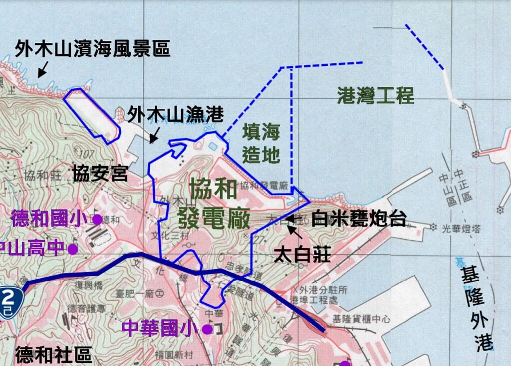 基隆協和電廠更新改建案,將填海造陸18.6公頃新建天然氣接收站。圖片來源:環評書件