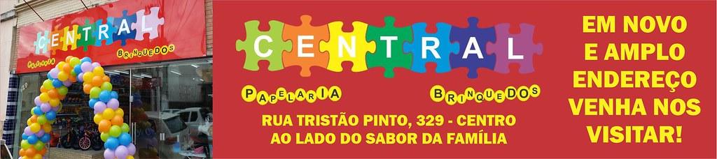 Central Papelaria e Brinquedos - em novo endereço em São Gabriel