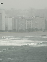 Coruña by day - Room with a view.  Poetry Orzán. Surfing in the Rain.