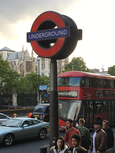 The Quintessential Shot of Central London…Westminster Abbey, the Tube, Double Decker Bus, London Cab, Street Traffic, Foot Traffic, and a lovely Park, all in one shot!