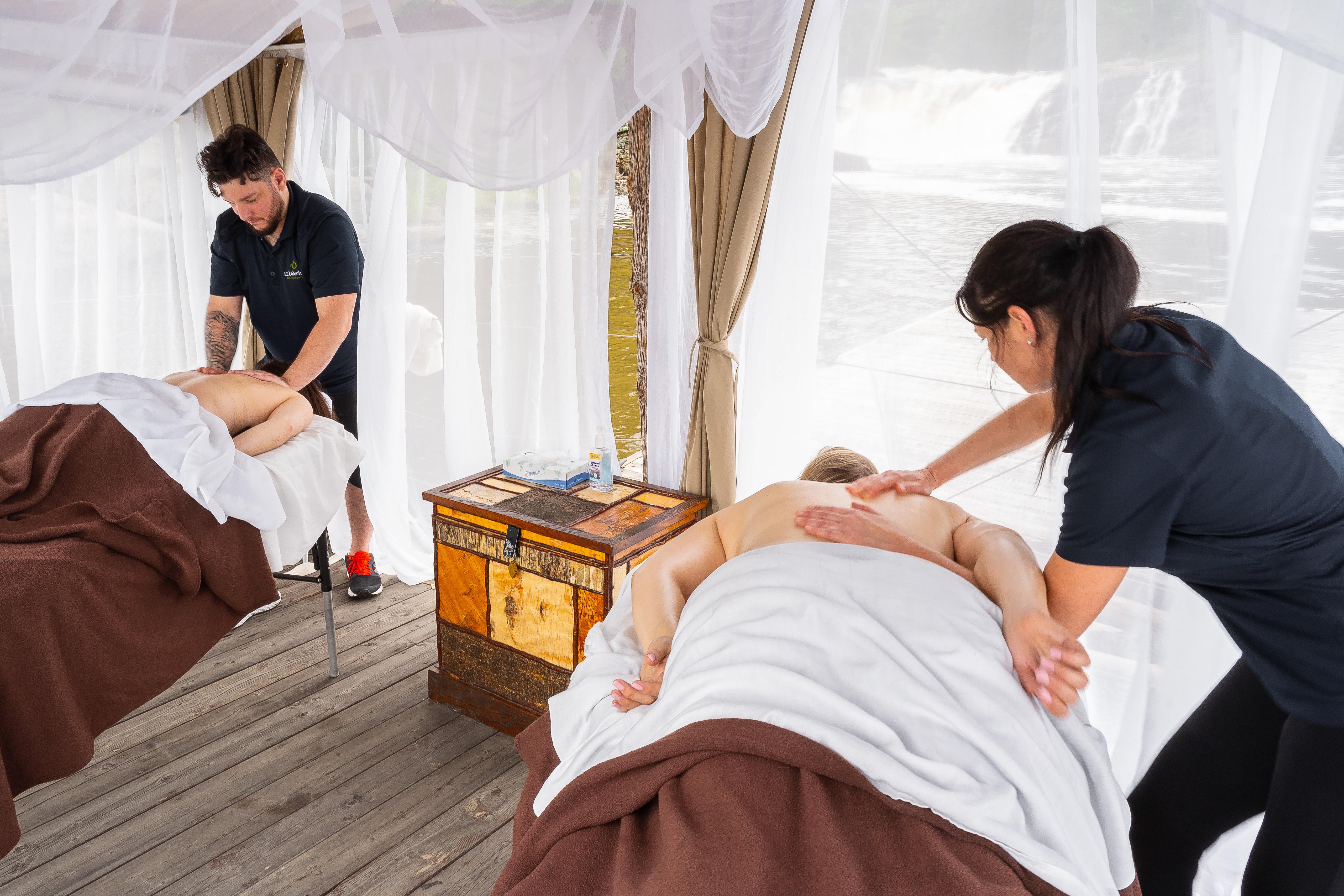 Soins de détente en massothérapie, soins esthétique et corporel ainsi que piscine et bains nordiques au SPA santé situé en Mauricie