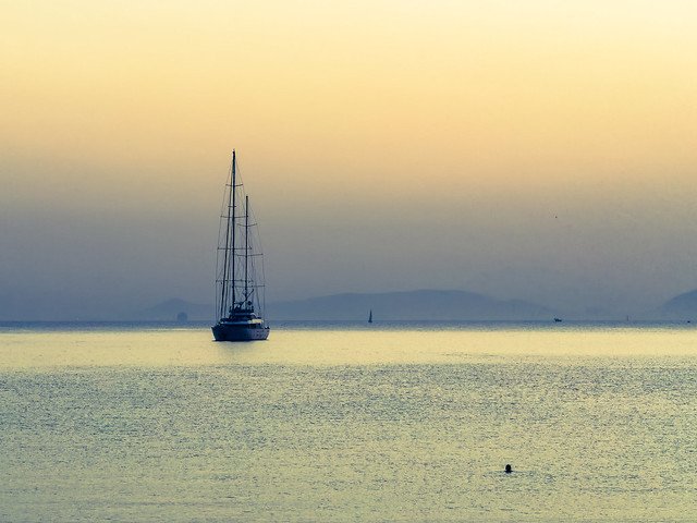 sailing in the dusk