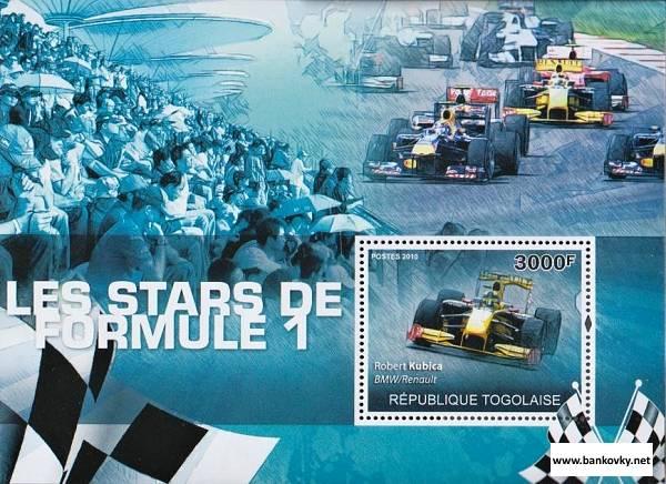 *Známky Togo 2010 Formula 1 neraz. hárček