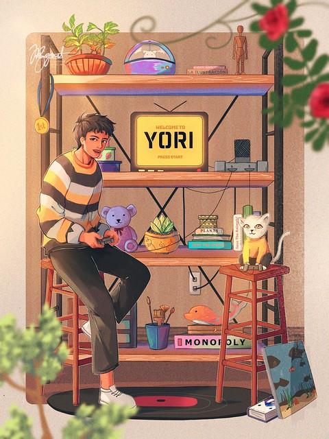 YoriFanArt_BernadetteAnne_Miguel - Migz