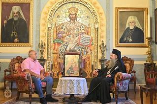 Посещение на Бойко Борисов при митрополит Николай