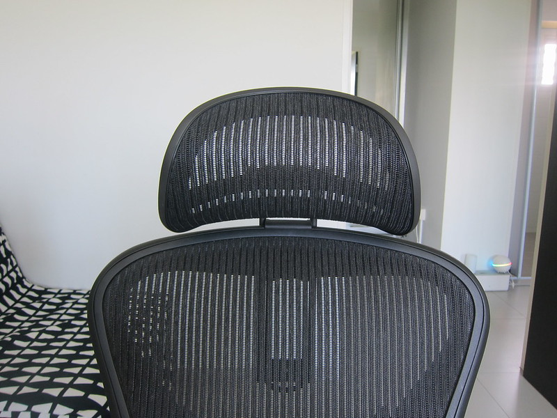 Atlas Headrest - With Herman Miller Classic Aeron Chair - Front
