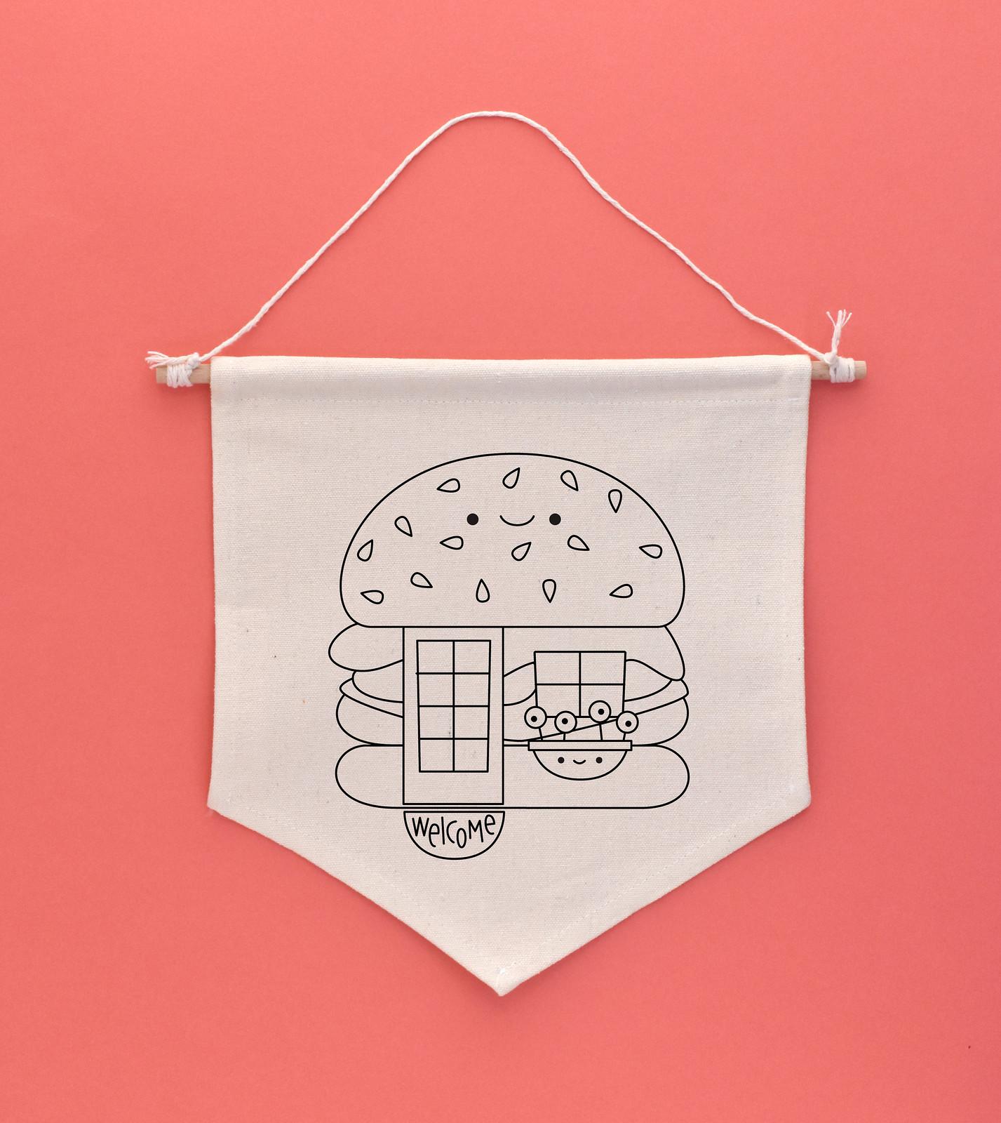 Kawaii Crossing Big Burger House Embroidery Pattern