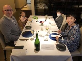 Family dinner at Otto Sette