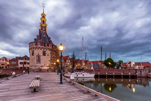 The old harbor of Hoorn