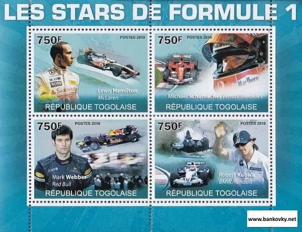 Známky Togo 2010 Formula 1