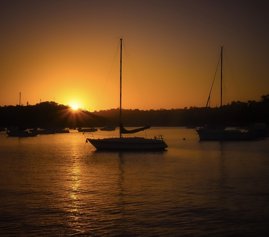… sundown by a lake … Mosman, NSW Australia