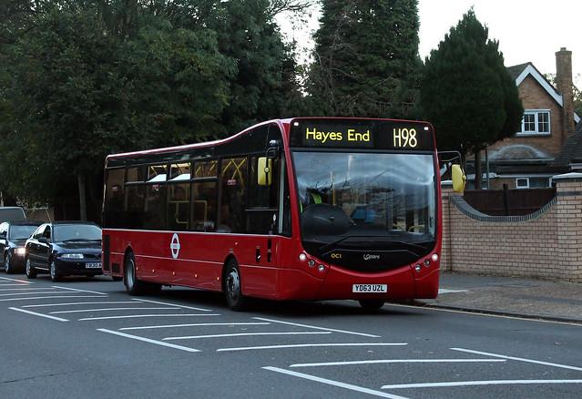Route H98, London United, OC1, YD63UZL