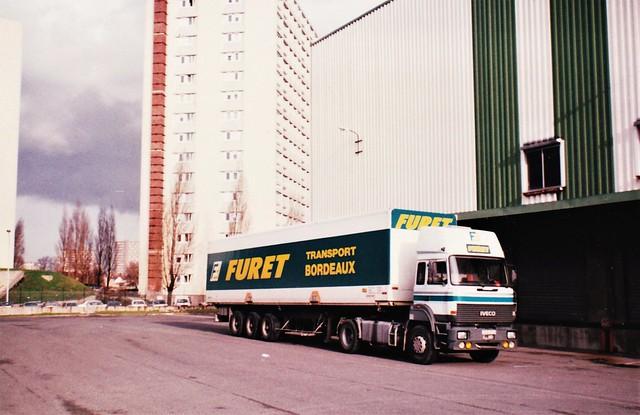 Iveco 190-32 Transport Furet / FDS (France Distribution S.A.) Créteil (94 Val de Marne) 1991a