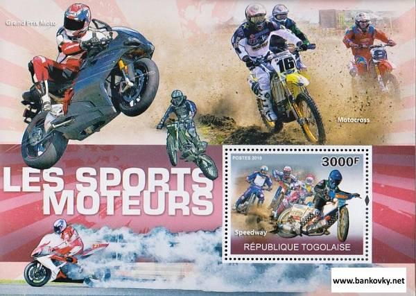 Známky Togo 2010 Motocyklový šport neraz. hárček