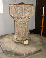 font from St Benedict, Norwich