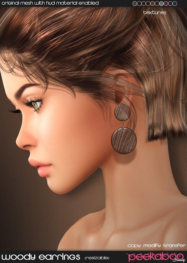 Woody Earrings AD