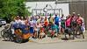 Die Fahrradgruppe aus Mannheim, Leimen und Karlsruhe traf sich in der Mitt` beim Johanneshof. Foto: Cornel Simionescu-Gruber