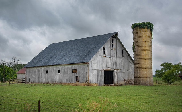 Blue Roofed Barn