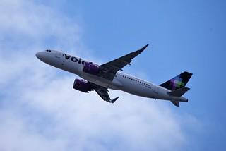A320n XA-VRV Volaris delivery flight