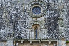 DSC4002 Rosetón y ventana de la Fachada Occidental, San Pedro da Mezquita, 1202, A Merca, Ourense