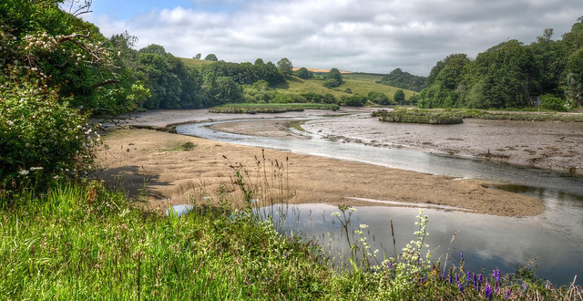 The valley of the East Looe River, Cornwall