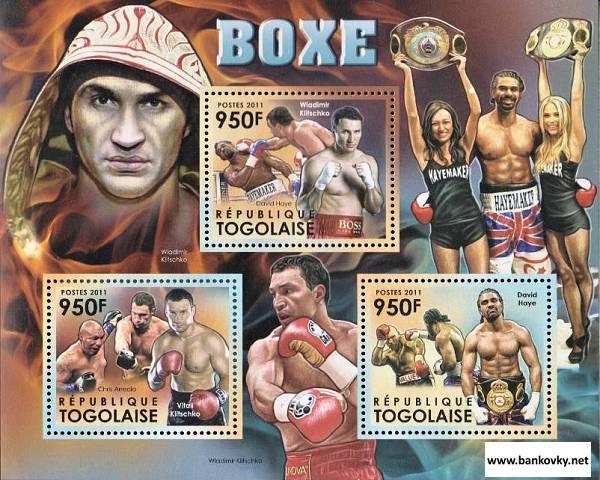 *Známky Togo 2012 Box MNH hárček