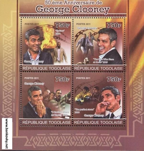 Známky Togo 2011 George Clooney
