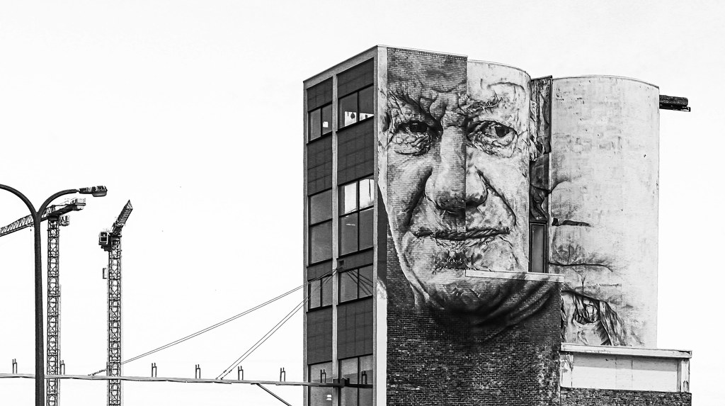 Face on building