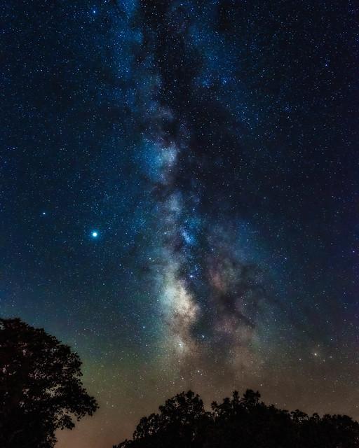 Milky Way from Petit Jean. Arkansas. 2020.