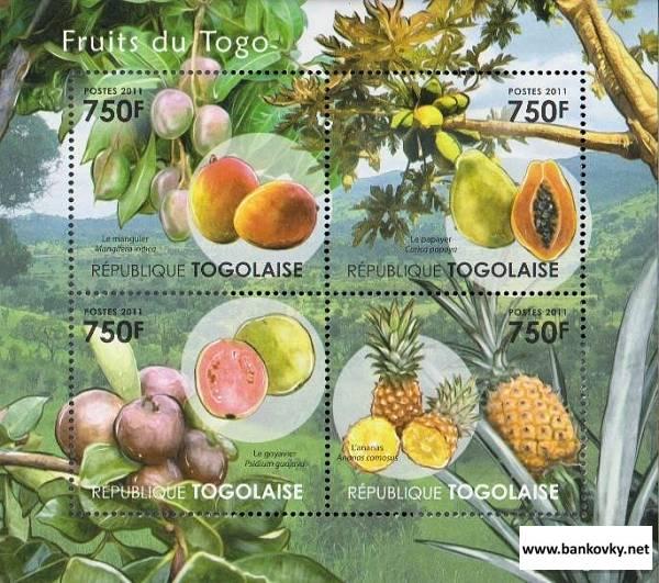 Známky Togo 2011 Ovocie nerazítkovaná séria