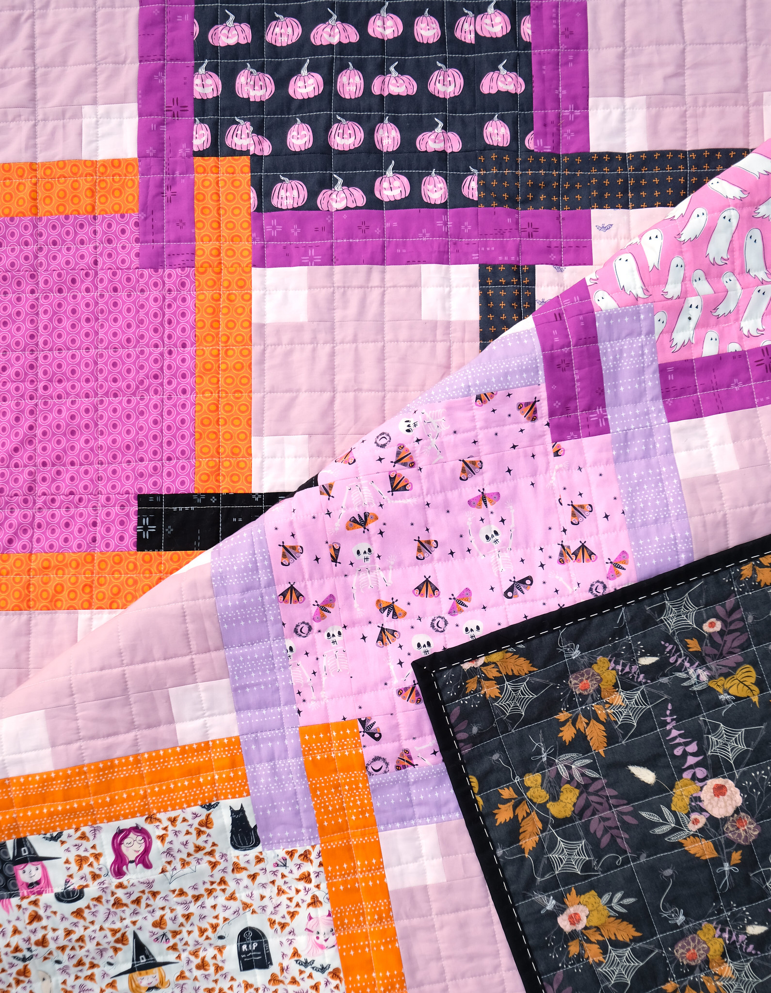 The Judy Quilt in Spooky n Sweeter 8