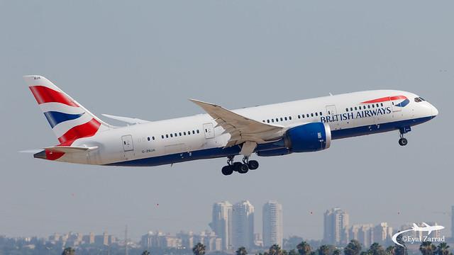 TLV - British Airways Boeing 787-8 G-ZBJA