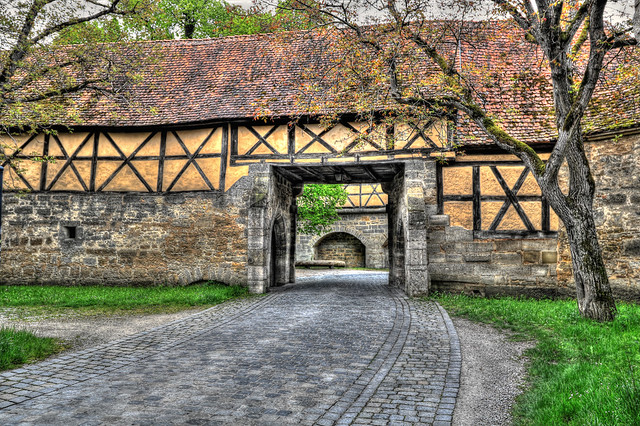 Rothenburg o. d. Tauber - Spitalbastei 03