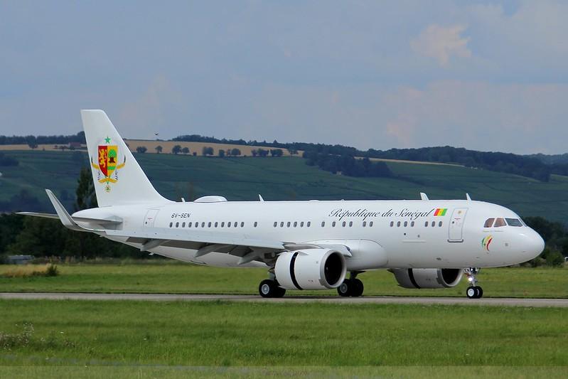 6V-SEN Senegal Government Airbus A320neo ACJ , LFSB