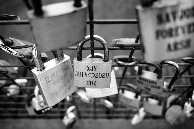 Love locks at the Quay
