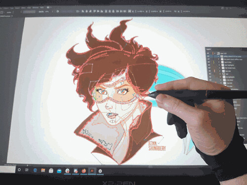 vector graphic made by xp-pen artist 24 pro tablet