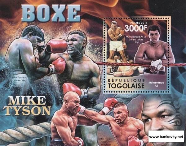 Známky Togo 2012 Box Mike Tyson