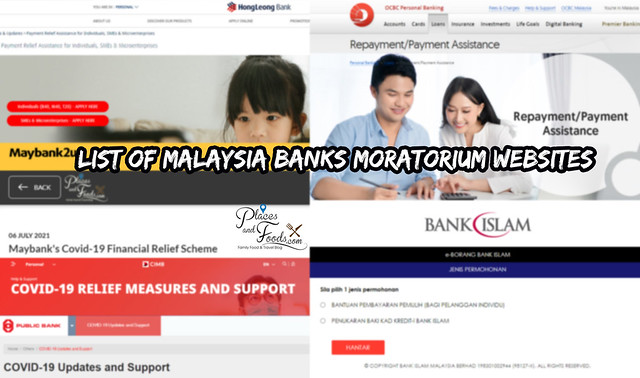 list of bank moratorium websites