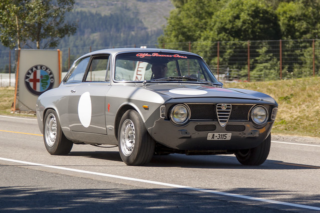 Alfa Romeo on the road