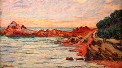 Le Cap Long à Agay - Guillaumin, 1893