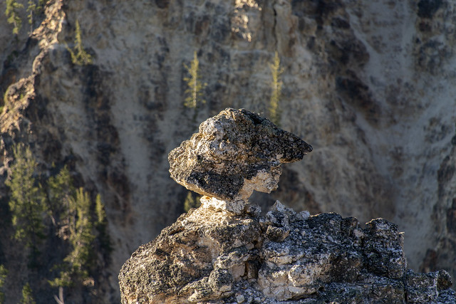 Precarious Boulder at Lookout Point, Grand Canyon of the Yellowstone